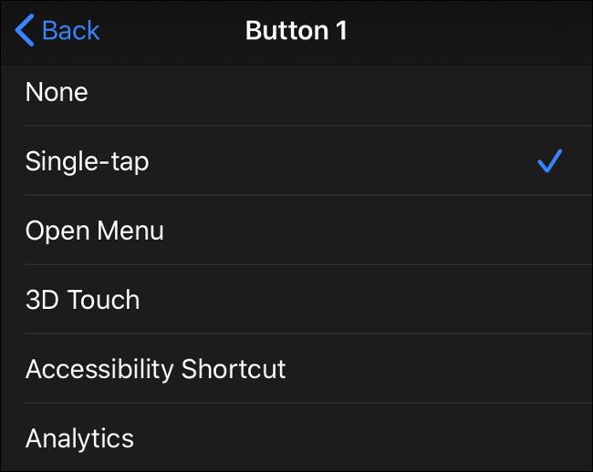 Entradas de botão do mouse disponíveis no iOS 13 (iPadOS 13)