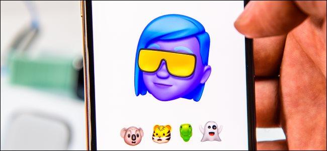 Introdução de Memoji em um iPhone Xs Max.