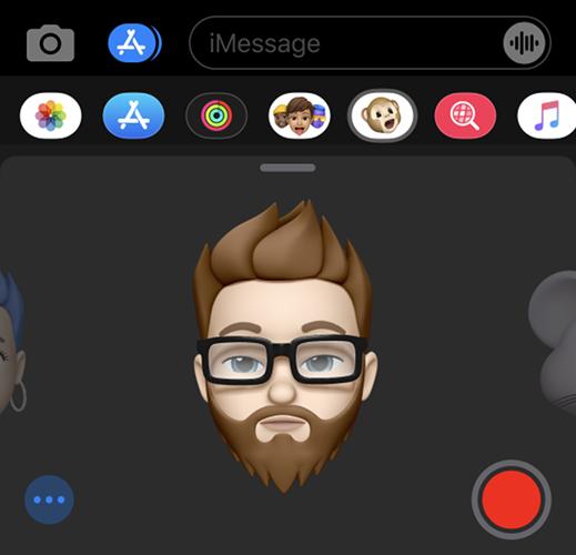 Usando Memoji no iMessage usando Face ID