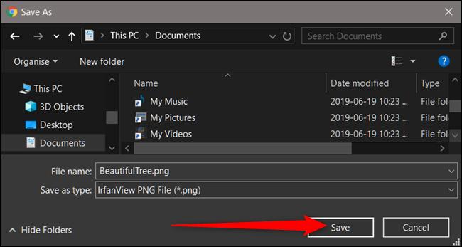 Escolha um destino para os arquivos e clique em Salvar