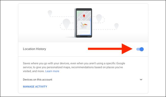 Desative o Histórico de localização para o Google Maps