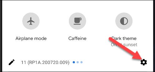 menu de configurações do android