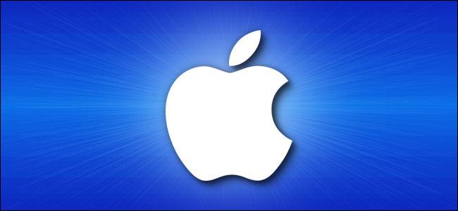 O logotipo da Apple.