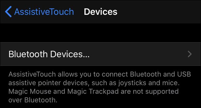 Emparelhando um mouse Bluetooth no iOS 13 (iPadOS 13)
