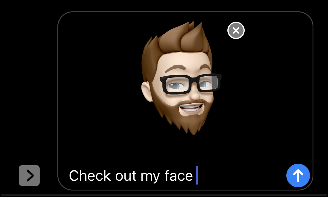Usando Memoji com Face ID no iMessage