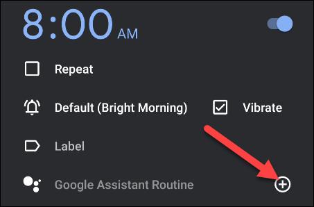 adicionar uma rotina de assistente do Google