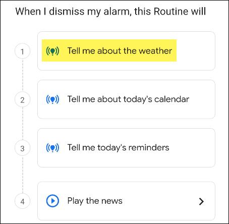 rotina do assistente do google