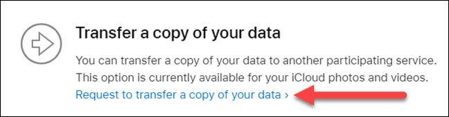 transferir uma cópia de seus dados