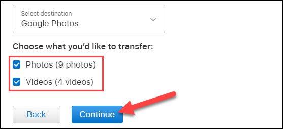 selecione o conteúdo a ser copiado e clique em continuar