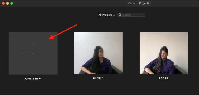Clique em Criar novo a partir da tela do projeto
