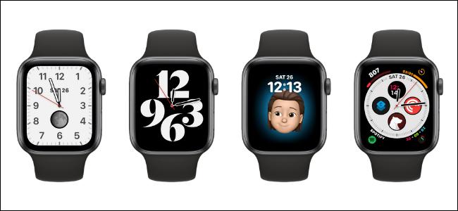 Diferentes mostradores de relógio para Apple Watch