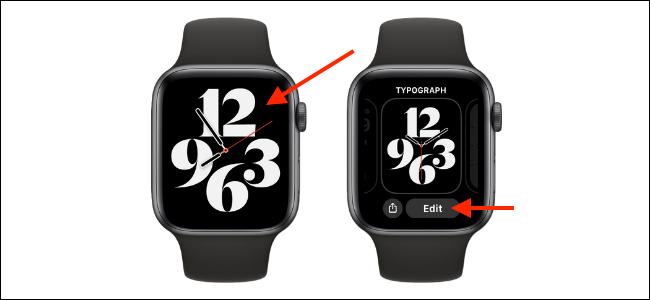 Entrar no modo de personalização para Apple Watch