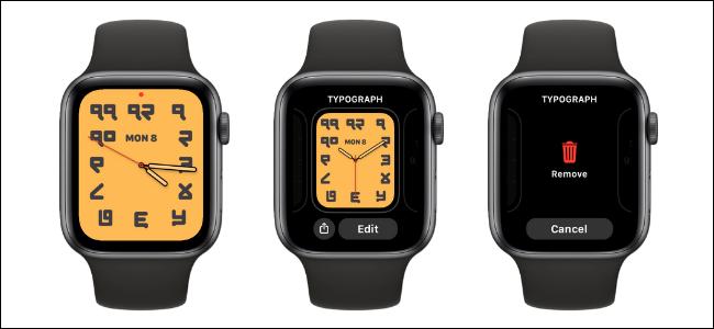 Como excluir um mostrador do relógio no Apple Watch