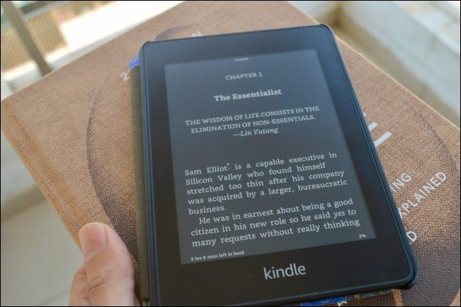 Kindle Ebook no modo escuro