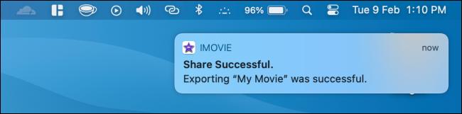Filme exportado no iMovie