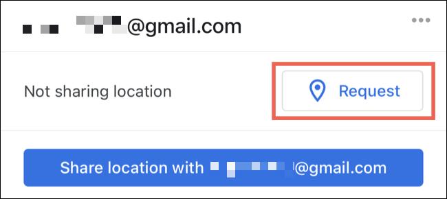 Toque para solicitar a localização de um contato