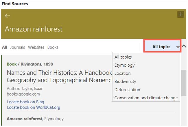 Clique em Todos os Tópicos em um Tópico Relevante