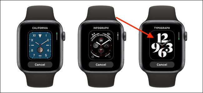 Toque no mostrador do relógio para adicioná-lo ao Apple Watch
