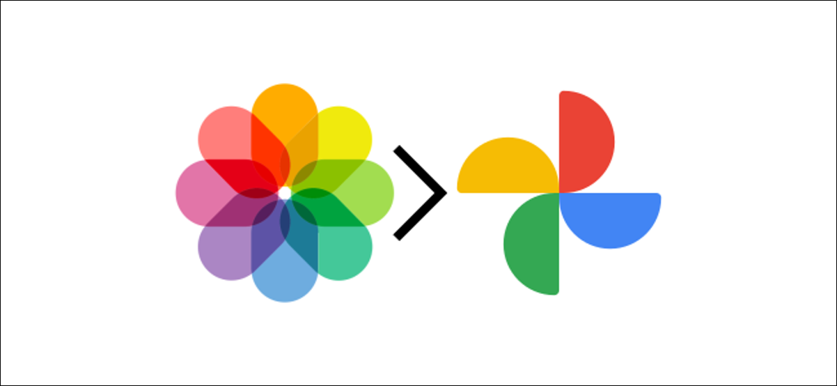 fotos da apple e logotipos do google photos