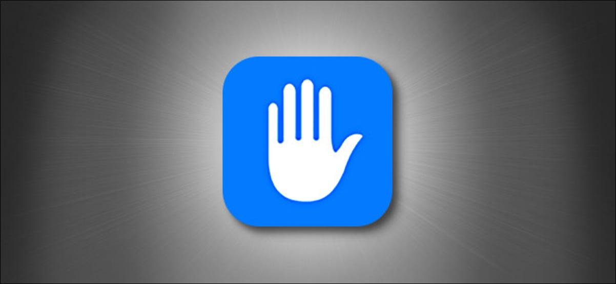 O ícone de privacidade do Apple iOS e iPadOS em um fundo cinza