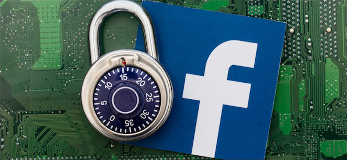 Logotipo do Facebook ao lado de um cadeado