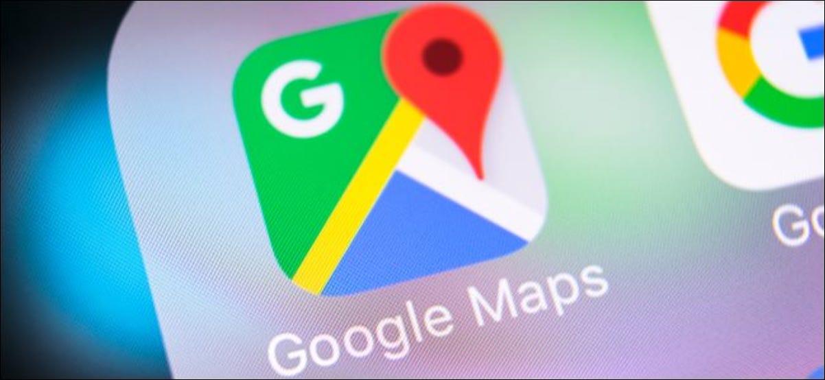 Logotipo do aplicativo Google Maps em um smartphone