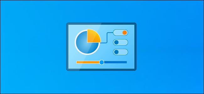 Ícone do painel de controle em uma área de trabalho do Windows 10