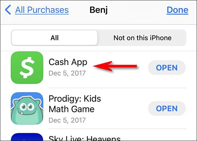 Toque no ícone do aplicativo que deseja verificar.