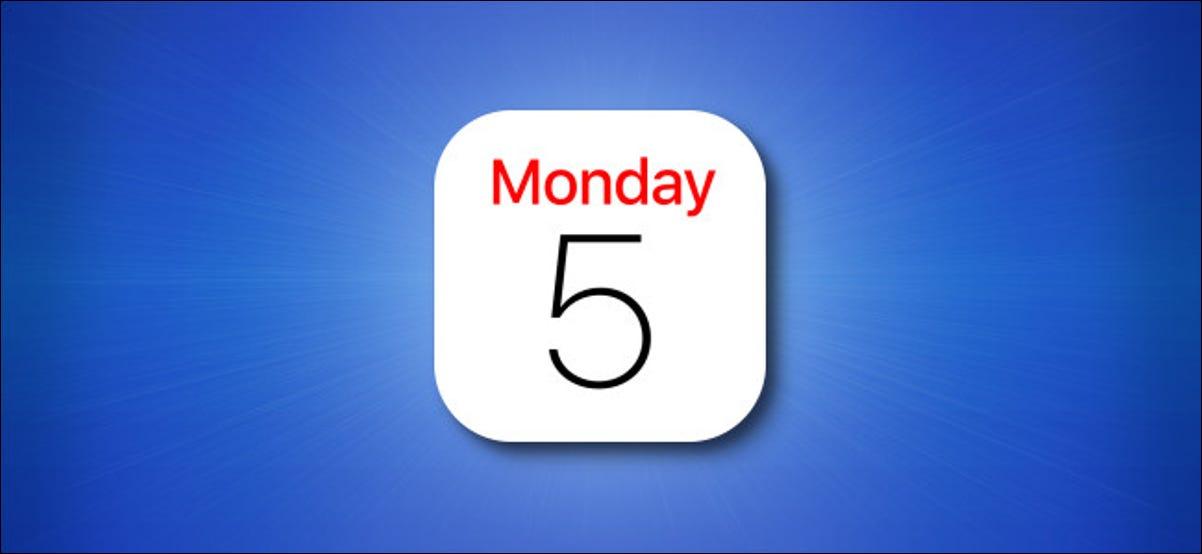 Ícone do aplicativo Agenda do iPhone em um fundo azul