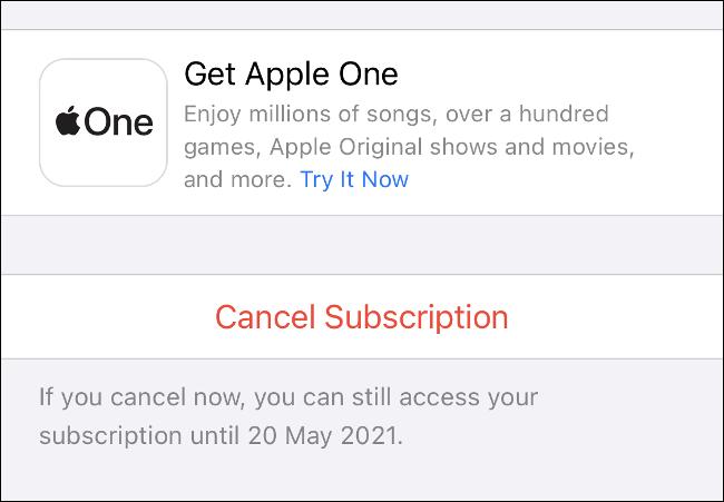 Cancelar assinatura do iPhone