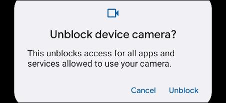 Mensagem pop-up quando o acesso ao sensor é solicitado.