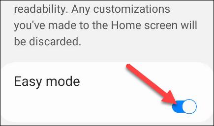 Agora, basta ligar o botão e você verá a interface do usuário aumentar imediatamente.