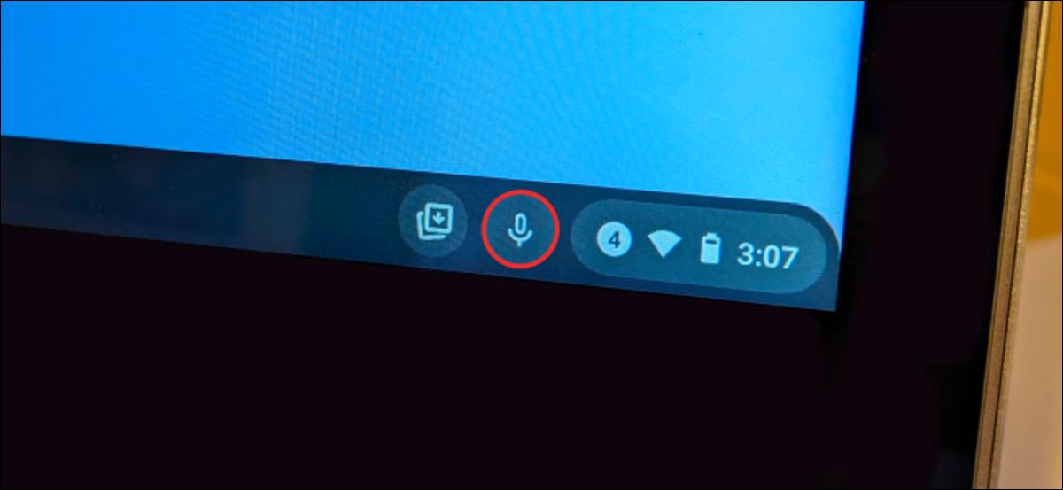 botão de voz para texto do Chromebook