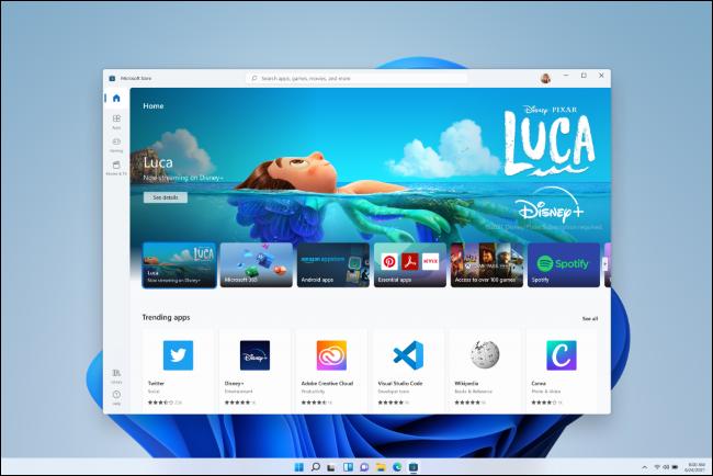 Novo aplicativo da Loja do Windows 11.