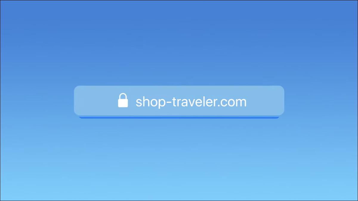 Uma barra de endereço do navegador carregando um site, conforme visto na palestra WWDC 2021 da Apple.