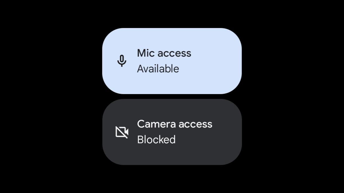 Blocos de acesso de configurações rápidas do Android 12.