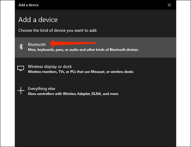 Clique em Bluetooth para emparelhar um dispositivo Bluetooth com seu PC Windows 10