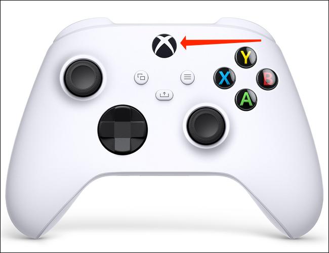 Toque e segure o botão do logotipo do Xbox por seis segundos para desligar o Xbox Wireless Controller quando estiver emparelhado com Bluetooth