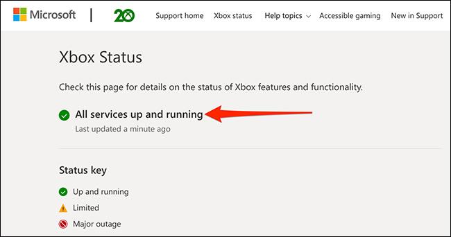 O site Xbox Status.