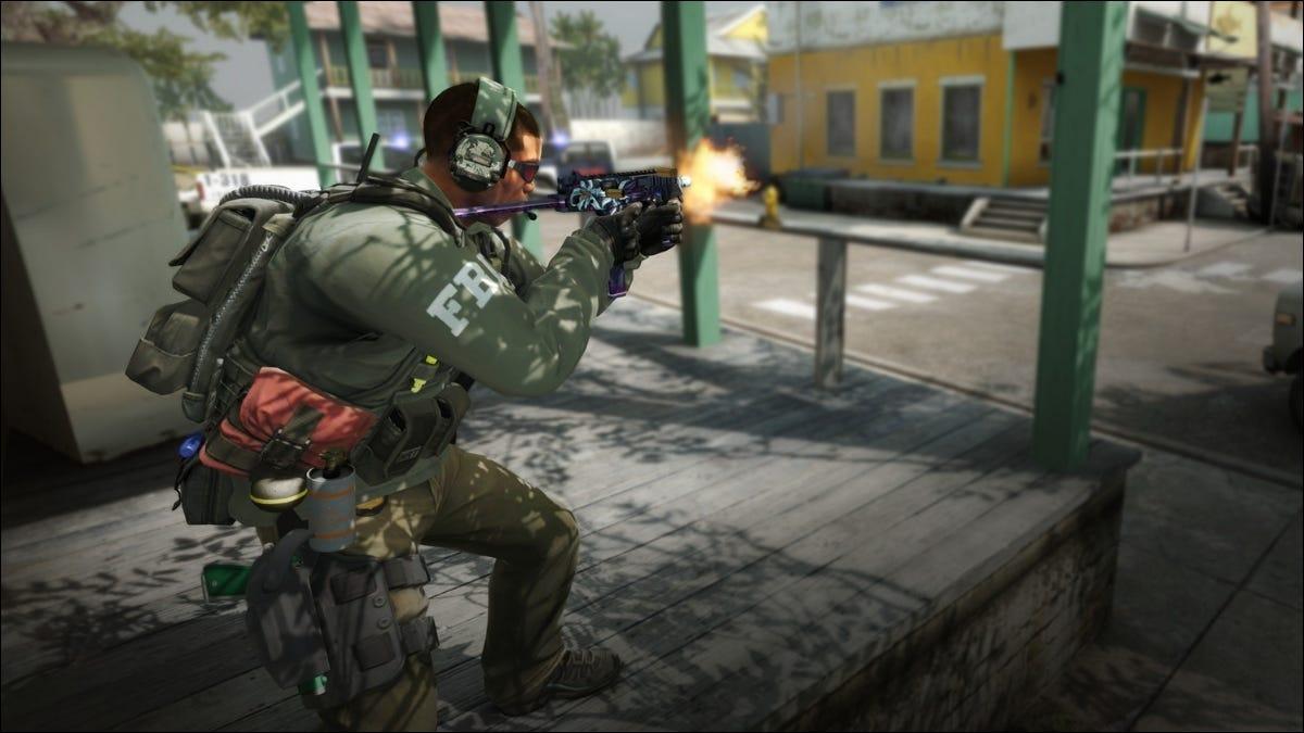 Videogame de arma de tiro para militar