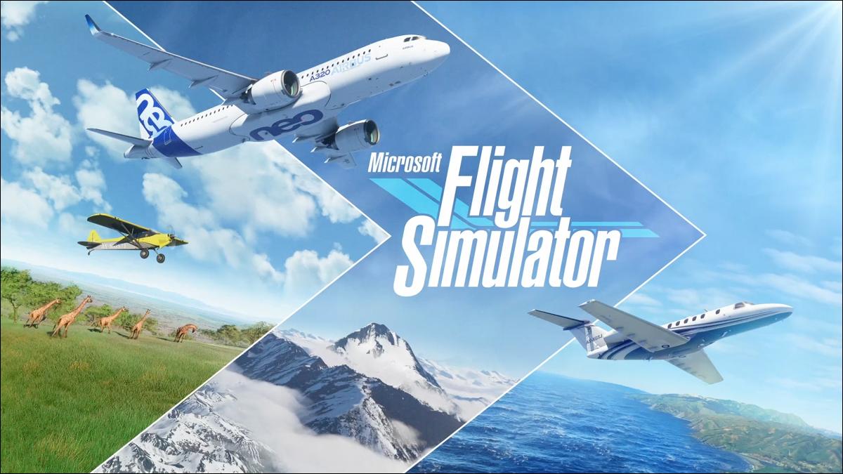 Uma imagem promocional do Microsoft Flight Simulator