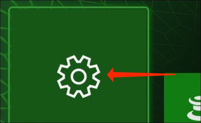 """""""Configurações"""" no Xbox Series X."""