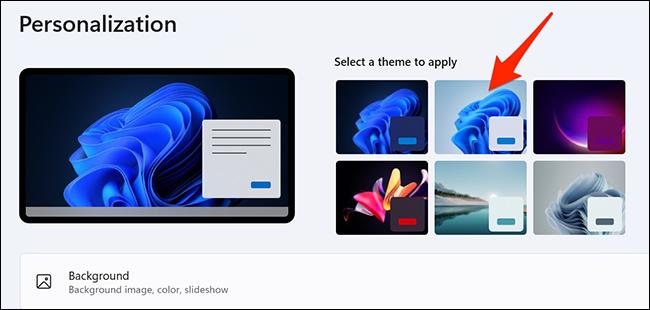 """Selecione o tema """"Windows (claro)"""" em Configurações no Windows 11."""