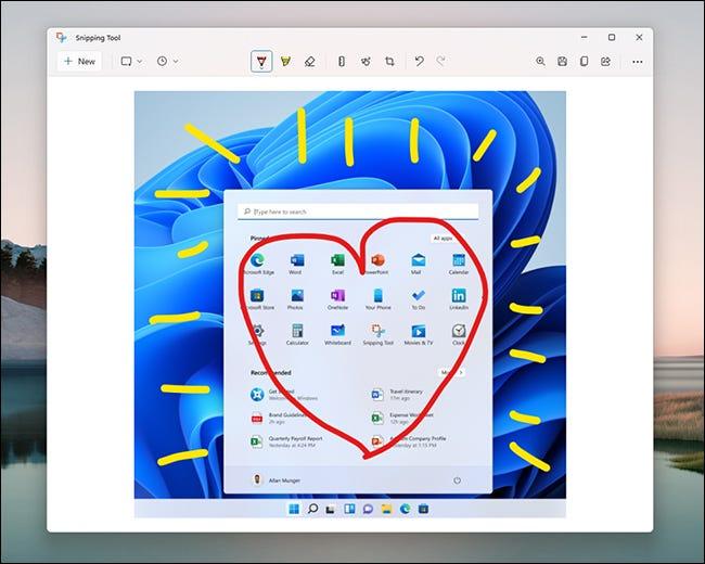 Ferramenta de recorte do Windows 11