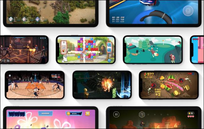 Seleção de jogos no Apple Arcade