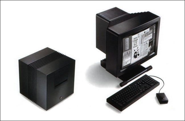 O computador NeXT com uma tela MegaPixel
