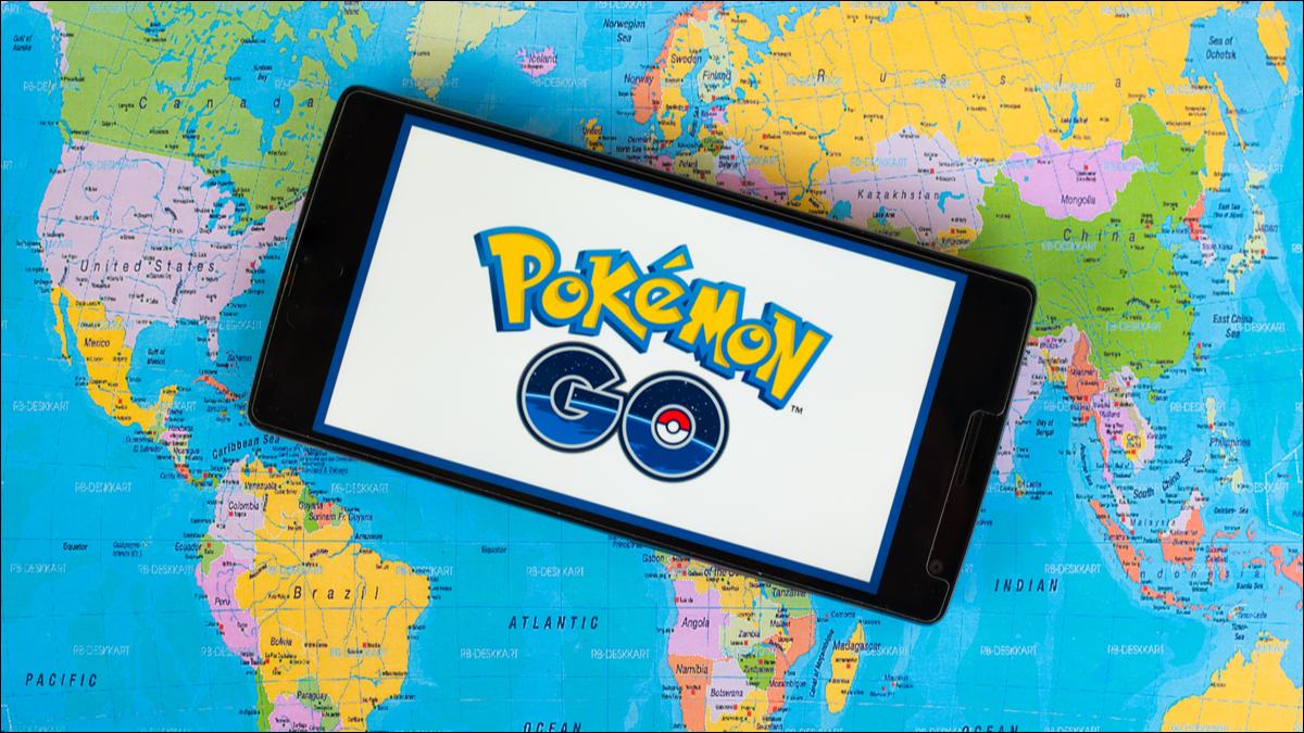 Pokémon Go em um mapa