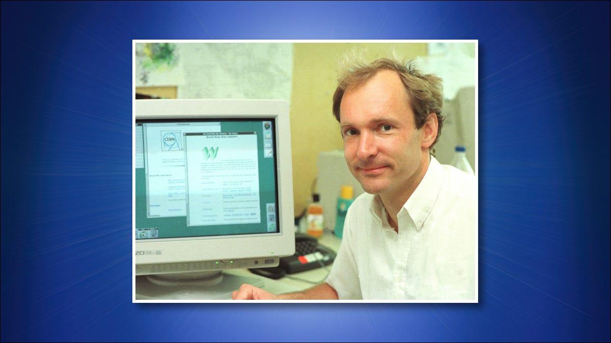 Uma foto de Tim Berners-Lee em 1994.