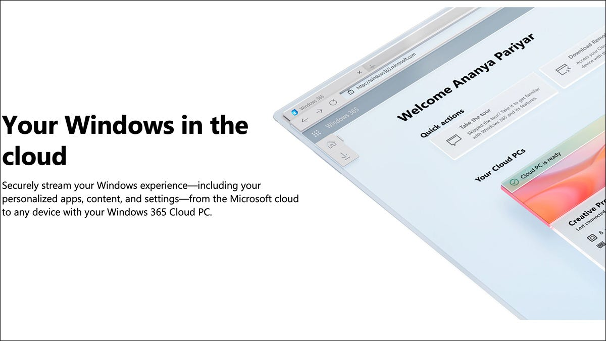 Imagem descritiva do Windows 365