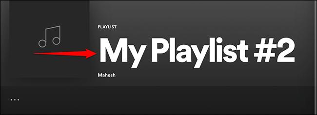 """Clique em """"Minha lista de reprodução"""" no Spotify."""
